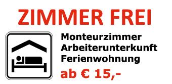 Monteurzimmer Arbeiterunterkunft Ferienwohnung ab 15 Euro